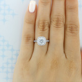 1.25 ct Round Halo Micro-Prong White Gold Engagement Ring (CR172)