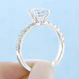 1.25 ct Round Micro-Prong White Gold Engagement Ring (EV19)