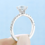 1 ct Round Micro-Prong White Gold Engagement Ring (EV10)