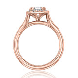 evertrue Rose Gold Halo Engagement Ring (EV13)