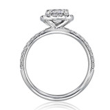 1.00 Ct. Round Moissanite Halo Micro-Prong Engagement Ring (CR15-M)