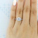 1.20 Ct. Round Moissanite Halo Micro-Prong Engagement Ring (EV14-M)