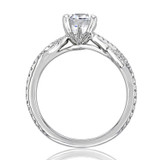 1.00 Ct. Round Moissanite Micro-Prong Engagement Ring (FG516-M)