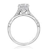 1.20 Ct. Round Moissanite Micro-Prong Ribbon Engagement Ring (MR3-M)