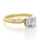 1.25 ct Round Solitaire Yellow Gold Proposal Ring (SO38)