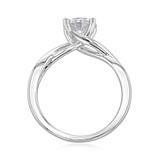 1.25 ct Round Gabriel Solitaire Twist White Gold Engagement Ring (GC38)