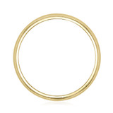 Signature Yellow Gold Men's Wedding Band (WB524)
