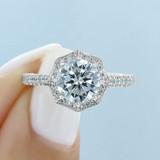 2 ct Tacori Petite Crescent White Gold Engagement Ring (HT2555RD8)