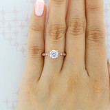 1 ct Round Pavé Rose Gold Engagement Ring (FG57)