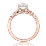Rose Gold Moissanite Solitaire Engagement Ring (FG57-M)