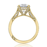 2.70 Ct. Round Moissanite Tacori Yellow Gold RoyalT Engagement Ring (HT2627RD9Y-M)
