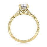 1 ct Round Twist Micro-Prong Yellow Gold Engagement Ring (FG60)