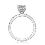 1 ct Round Gabriel Micro-Prong White Gold Engagement Ring (GC39S)