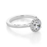 1 ct Tacori Coastal Crescent White Gold Engagement Ring (P101RD65)