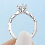 1 ct Tacori Coastal Crescent White Gold Engagement Ring (P102PR55)