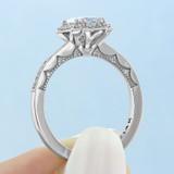 1 ct Tacori Coastal Crescent White Gold Engagement Ring (P103EC7X5)