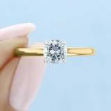 .75 ct Round Solitaire Yellow Gold Engagement Ring (SO56Y)
