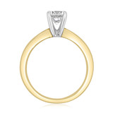 Two-Tone Solitaire Engagement Ring (SO56Y)