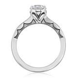 1 ct Tacori Coastal Crescent White Gold Engagement Ring (P102RD65)