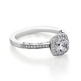 .90 ct Tacori Coastal Crescent White Gold Engagement Ring (P103CU6)