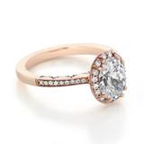 1.50 ct Tacori Coastal Crescent Rose Gold Engagement Ring (P103OV85X65)