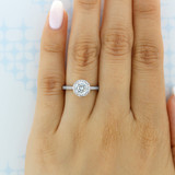 1 ct Tacori Coastal Crescent White Gold Engagement Ring (P103RD65)