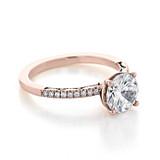 1.50 ct Tacori Coastal Crescent Rose Gold Engagement Ring (P104RD75)