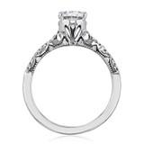 1.25 ct Tacori Coastal Crescent Ribbon White Gold Engagement Ring (P105OV8X6)