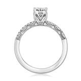 1 ct Tacori Coastal Crescent White Gold Engagement Ring (P104OV75X55FW)