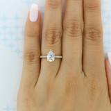 1.25 ct Tacori Coastal Crescent Yellow Gold Engagement Ring (P104PS9X6)