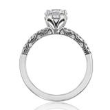 1 ct Tacori Coastal Crescent White Gold Engagement Ring (P104RD65FW)