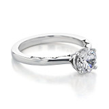 1 ct Tacori Coastal Crescent White Gold Engagement Ring (P100RD65)