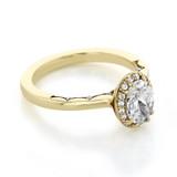 1 ct Tacori Coastal Crescent Yellow Gold Engagement Ring (P101OV75X55)
