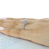 1.25 ct Tacori Petite Crescent White Gold Engagement Ring (HT2571RD7)