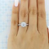 1.25 ct Tacori Petite Crescent White Gold Engagement Ring (HT257215CU7)