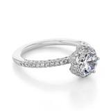 1.25 ct Tacori Petite Crescent White Gold Engagement Ring (HT257215RD7)