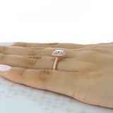 1 ct Tacori Coastal Crescent Rose Gold Engagement Ring (P1032CU8)