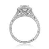 Halo Pavé Engagement Ring (CR68B)