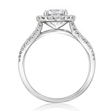 1.00 Ct. Round Moissanite Halo Micro-Prong Engagement Ring (MR16-M)