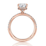 Rose Gold Moissanite Engagement Ring (CR199-M)