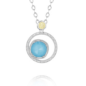 Gemma Bloom Bold Neo-Turquoise Fashion Necklace (SN14105)
