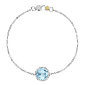 Crescent Embrace Sky Blue Topaz Fashion Bracelet (SB16602)