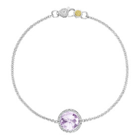 Crescent Embrace Rose Amethyst Fashion Bracelet (SB16613)