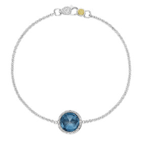 Crescent Embrace London Blue Topaz Fashion Bracelet (SB16633)