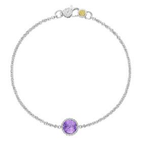 Crescent Embrace Petite Amethyst Fashion Bracelet (SB16701)