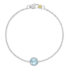 Crescent Embrace Petite Sky Blue Topaz Fashion Bracelet (SB16702)