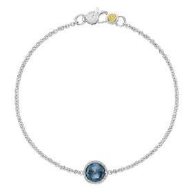 Crescent Embrace Petite London Blue Topaz Fashion Bracelet (SB16733)