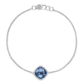 Crescent Embrace London Blue Topaz Fashion Bracelet (SB22333)