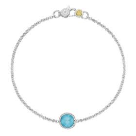 Crescent Embrace Petite Neo-Turquoise Fashion Bracelet (SB16705)