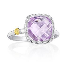 Crescent Embrace Rose Amethyst Fashion Ring (SR23113)